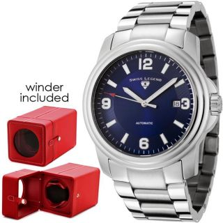 Swiss Legend Mens Reserve Blue Dial Stainless Steel Watch