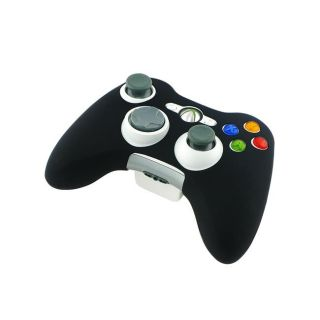 Eforcity Black Silicone Skin Case for Microsoft xBox 360 Controller