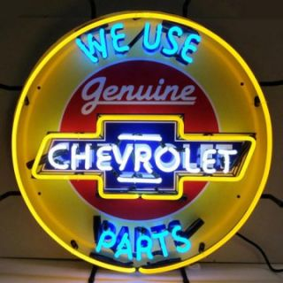 Chevrolet Neon Sign with Silkscreen Backing   Signs