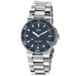 Oris Mens Aquis Date Blue Dial Stainless Steel Automatic Watch