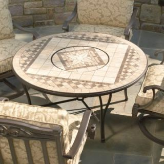 Alfresco Home Basilica 48 in. Beverage / Fire Pit Chat Table with