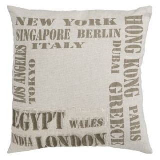 Surya Traveler Decorative Pillow   Beige   Decorative Pillows at