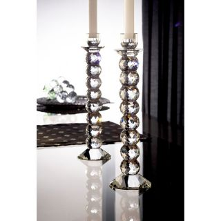 Fifth Avenue Crystal Prism 12 inch Candle Holders (Set of 2