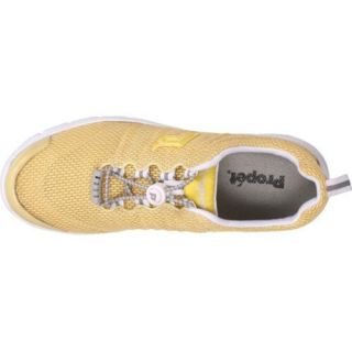 Womens Propet Travel Walker II Pale Yellow Mesh