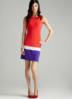 Donna Morgan Sleeveless Colorblock Shift