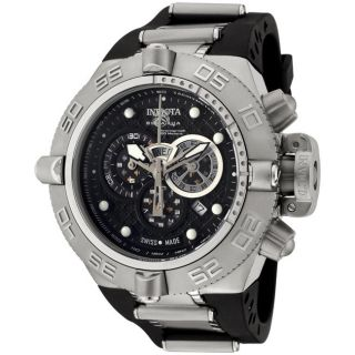 Invicta Mens Subaqua Rubber Strap Stainless Steel Chronograph Watch