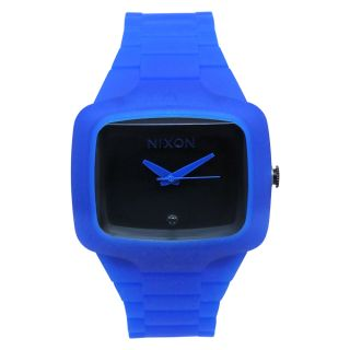Nixon Mens Player Blue Rubber Watch