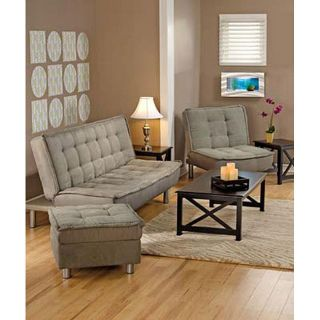 Belinda Microsuede Sofa Bed and Chair Set