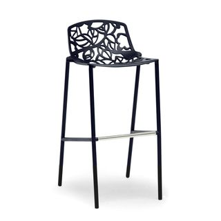 Baxton Studio Demeter Black Metal Modern Bar Stool