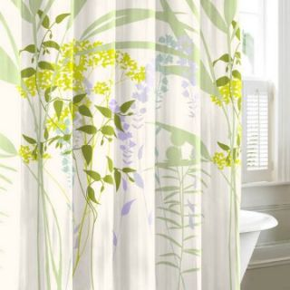City Scene Mixed Floral Shower Curtain   Fabric Shower Curtains at