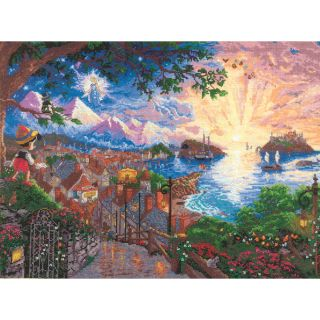 Disney Dreams Collection By Thomas Kinkade Pinocchio Wishes Today: $31