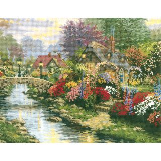 Thomas Kinkade Lamplight Bridge Counted Cross Stitch Kit Today: $26.42