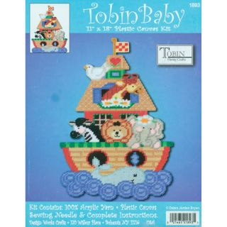 Noahs Ark Birth Record Plastic Canvas Kit 11X18