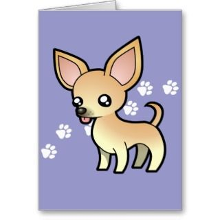 Cartoon Chihuahua (fawn smooth coat) cards by SugarVsSpice