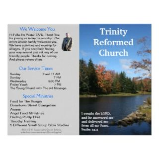 Church Bulletin (Outside Only) Personalized Letterhead