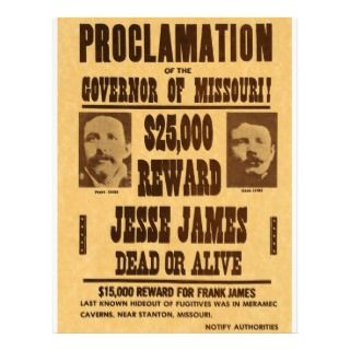 Jesse James Dead or Alive Letterhead