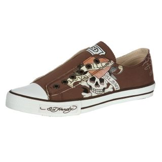 Ed Hardy Mens Basic Brown Lowrise Sneaker