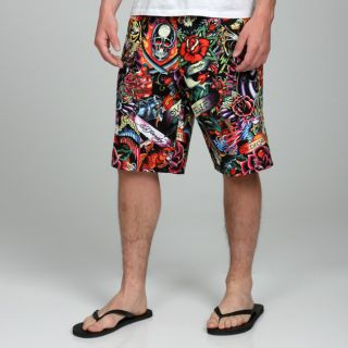 Ed Hardy Mens Split Board Shorts