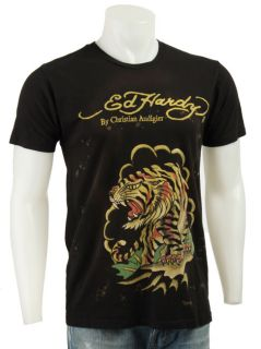 Ed Hardy Mens Tiger Cloud Shirt