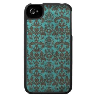 Vintage Turqoise Damask iPod case