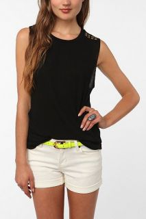 Daydreamer LA Studded Shoulder Muscle Tank