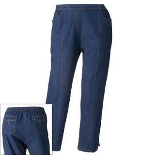 Cathy Daniels Pull On Straight Leg Jeans   Womens Plus