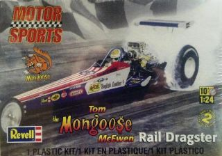 Monogram Tom Mongoose McEwen Rear Engine Rail Dragster Model Kit 1 25