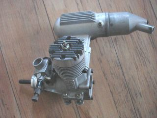 Model Airplane Engine OS MAX SF 46 with OS 4D Carb and OS 873 Muffler