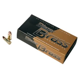 Blazer Model 5200 Brass Ammunition 9mm Luger Caliber