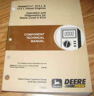 John Deere 10 5 12 5L 6105 6125 Engine Technical Manual