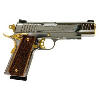 Taurus Stainless 9 + 1 Round 38 Super/Bullhead Walnut Grip/Gold Accent