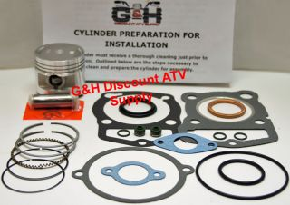 87 88 Honda TRX 125 Fourtrax Engine Top End Rebuild Kit Cylinder
