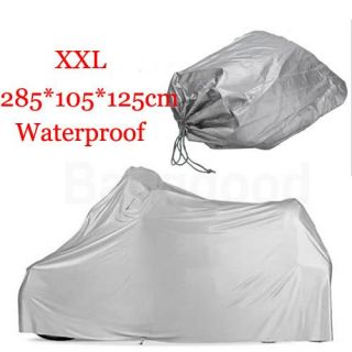Motor Bike Outdoor Cover Waterproof 285 x 105 x 125 cm Size XXL