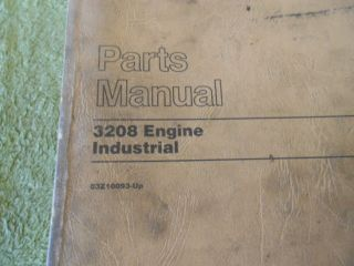 Caterpillar 3208 Industrial Engine Parts Manual Cat Book Service 03Z
