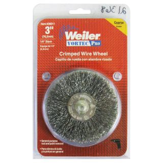 Weiler 36011 Vortec Pro® 3 Crimped Wire Wheel 1 4 Stem Coarse