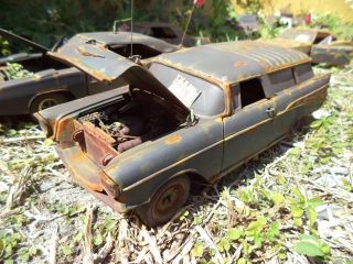 18 57 Chevy Nomad Unrestored Junker Diorama Barnyard Demolition