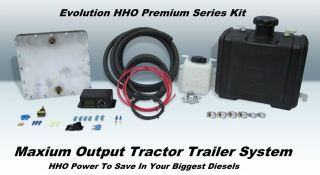 HHO Oversized Tractor Trailer Large Engine Marine Dry Cell Kit