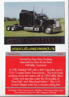1981 Peterbilt 359 w 400 Caterpillar Engine 18 Wheeler Heavy Truck