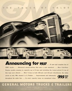 Pontiac GMC Trucks Cab Over Engine Models Original Advertising
