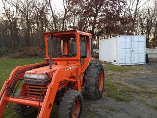 Kubota L3650 4x4 Tractor Loader Three Point Hitch 4WD Curtis Cab