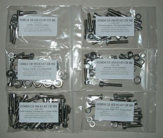 Honda CB CL 450 CL450 CB450 Twin Engine Hex Screw Kit