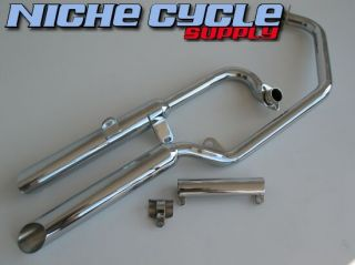 Yamaha Virago 535 XV535 87 89 Chrome Mac Exhaust Slash