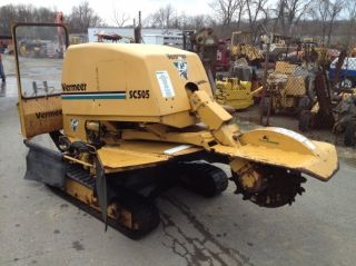 2000 Vermeer SC 505 Stump Grinder Cutter 50HP Perkins Engine Track