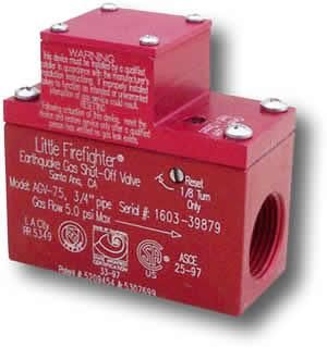 Firefighter Gas Safety AGV 75 3/4 Horizontal Valve