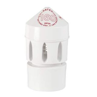 Vent Air Admittance Valve 160 DFU With 2 x 3 PVC Schedule 40 Adapter